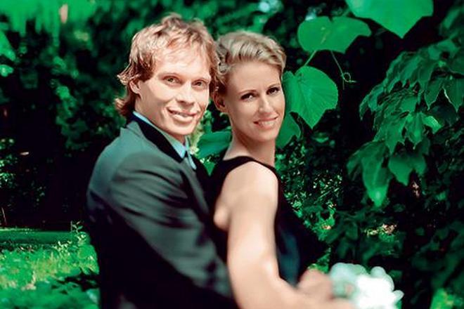 Елена Дементьева и ее муж Максим Афиногенов