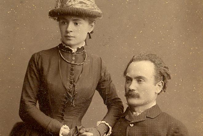 Иван Франко с женой Ольгой Хоружинской