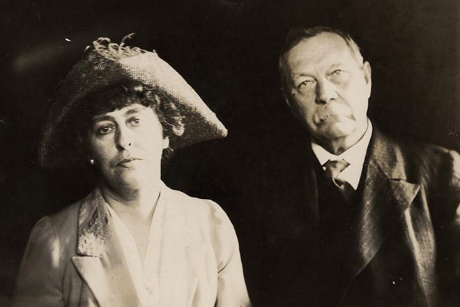 Артур Конан Дойл и вторая жена Джин Лекки