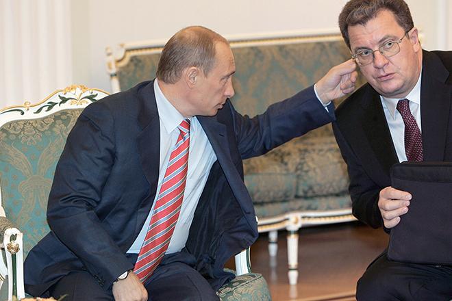 Владимир Путин и Сергей Приходько