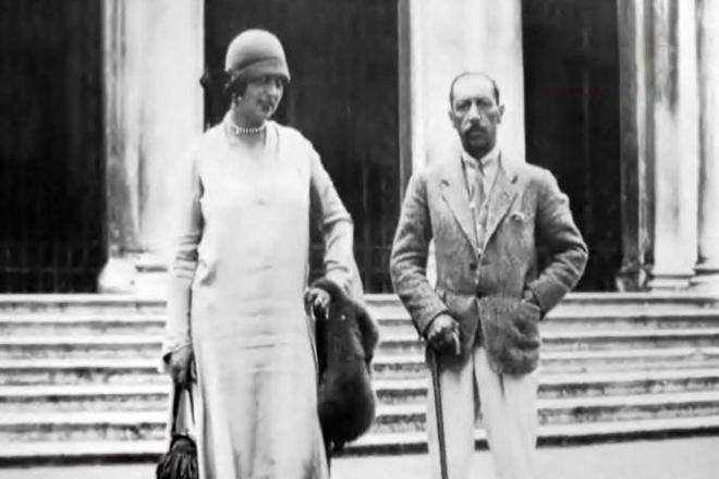 Игорь Стравинский и вторая жена Вера Судейкина
