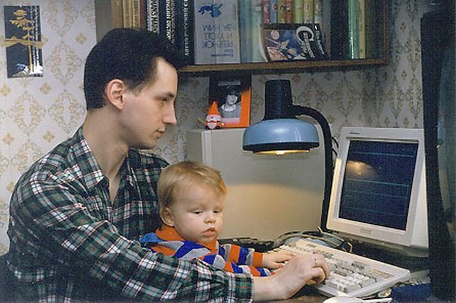 Ник Перумов с сыном