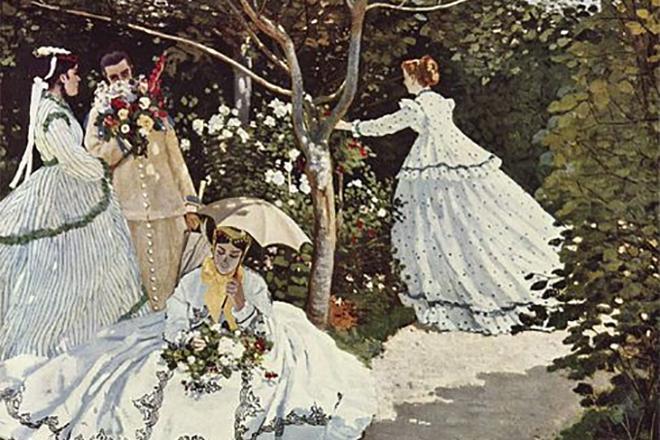 Картина Клода Моне «Женщина в саду»