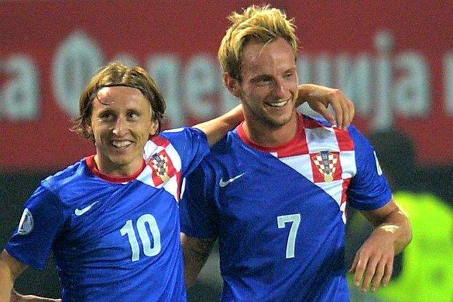 Лука Модрич и Иван Ракитич в сборной Хорватии