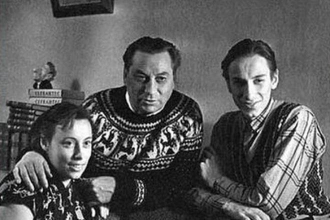 Василий Меркурьев с семьей