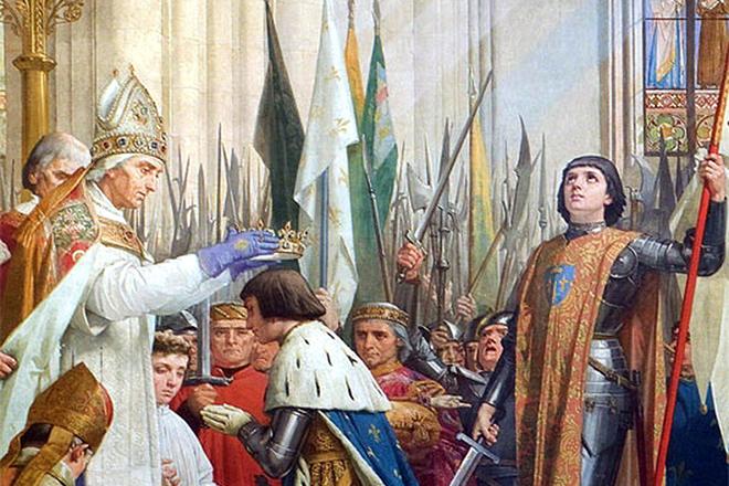 Жанна Д'арк на коронации Карла