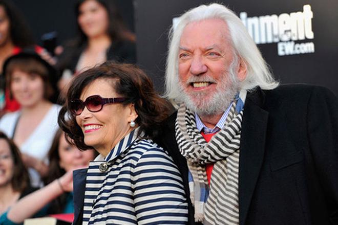 Дональд Сазерленд с женой