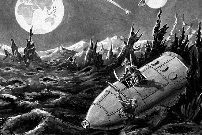 Иллюстрация к книге Жюля Верна