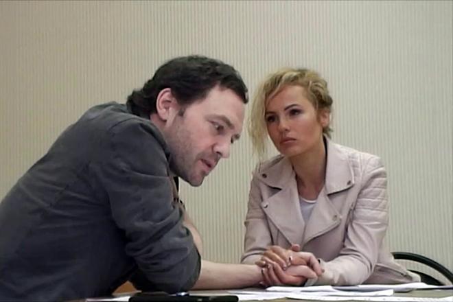 Виктор Васильев и Александра Харитонова на съемках фильма