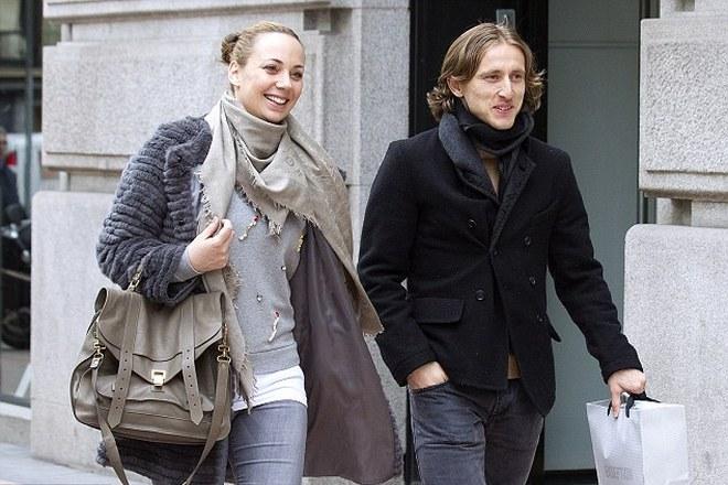 Лука Модрич и его жена Ваня Боснич