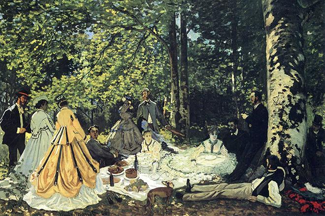 Картина Клода Моне «Завтрак на траве»