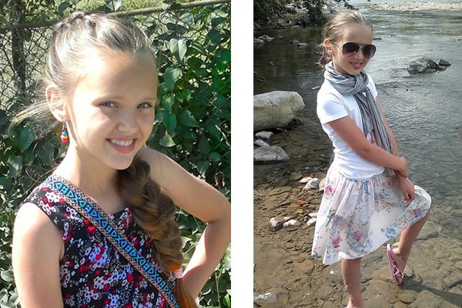 Ангелина Романовская в детстве