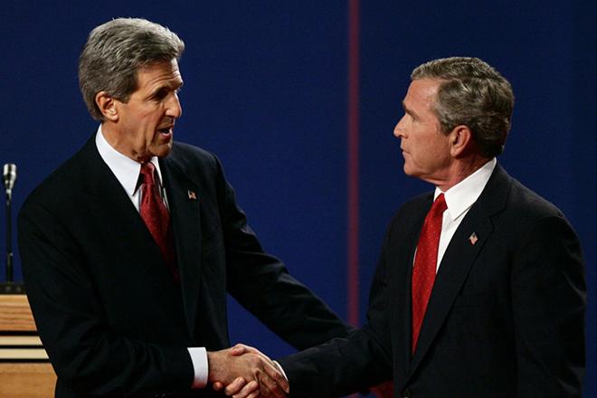 Джордж Буш и Джон Керри