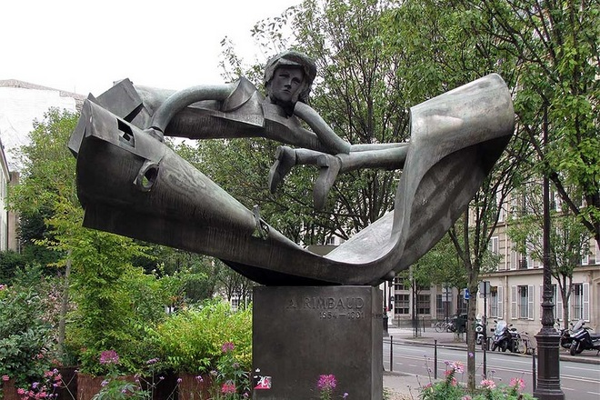 Памятник Артюру Рембо в Париже