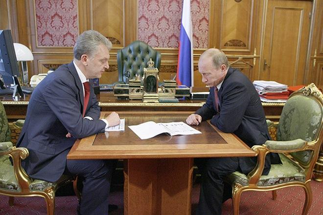 Виктор Христенко и Владимир Путин