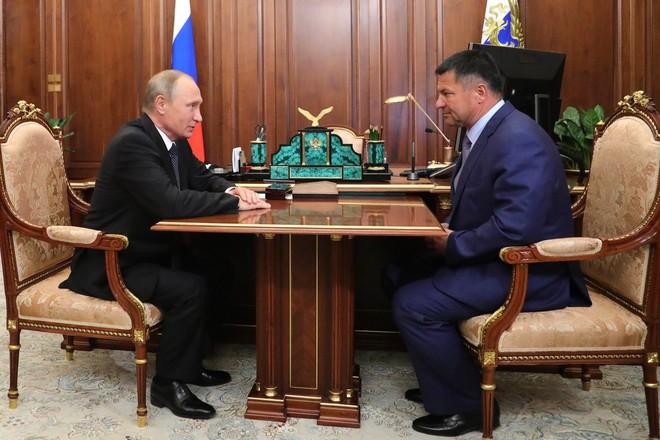 Владимир Путин и Андрей Тарасенко