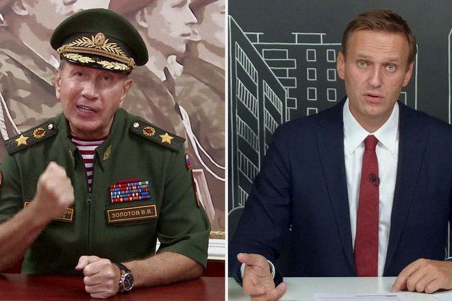 Виктор Золотов и Алексей Навальный