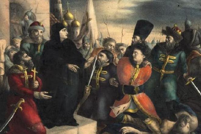 Царица Мария Нагая обличает Лжедмитрия I