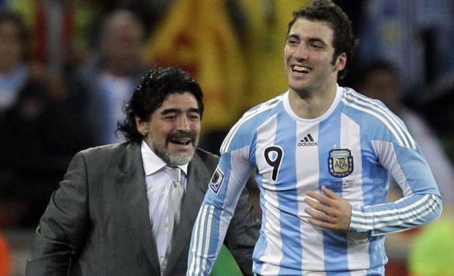 Диего Марадона и Гонсало Игуаин