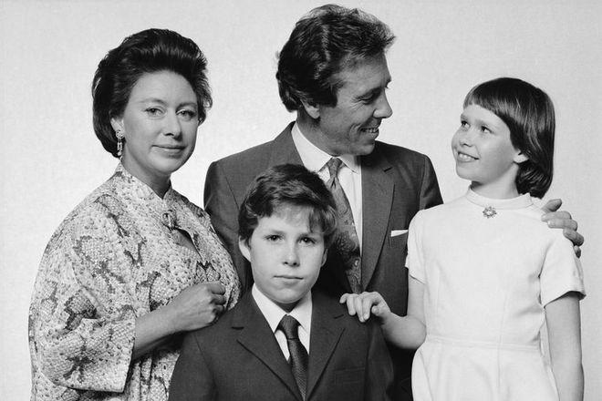 Принцесса Маргарет с мужем и детьми