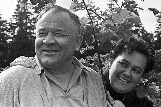 Борис Андреев и его жена Галина