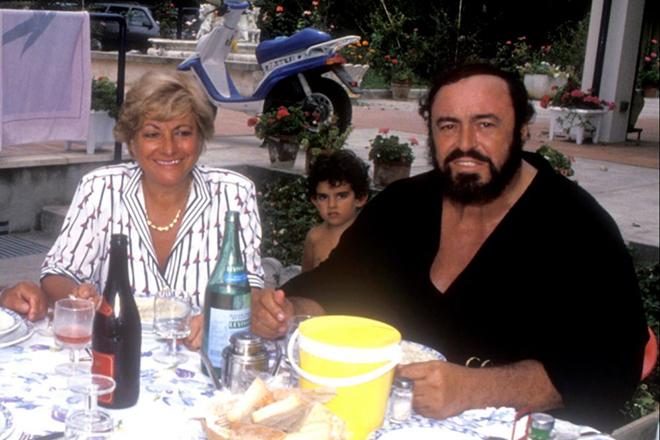 Лучано Паваротти и Адуа Верони
