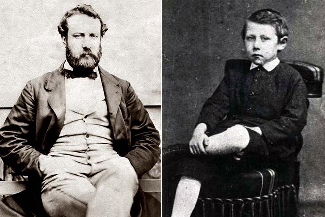 Жюль Верн с сыном Мишелем