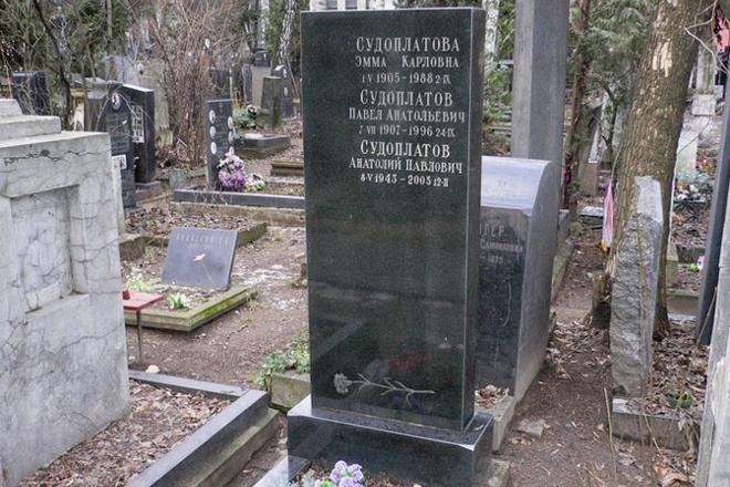 Могила Павла Судоплатова