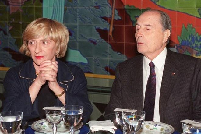 Франсуаза Саган и Франсуа Миттеран