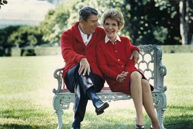 Рональд Рейган с женой