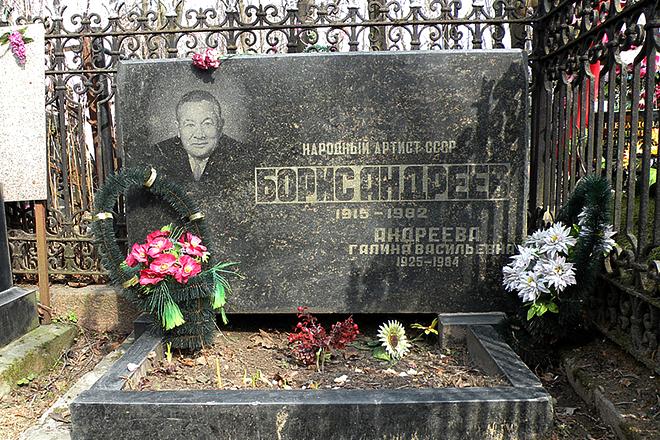 Могила Бориса Андреева