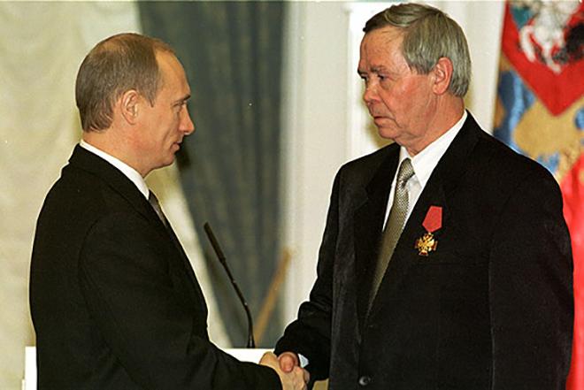 Валентин Распутин и Владимир Путин