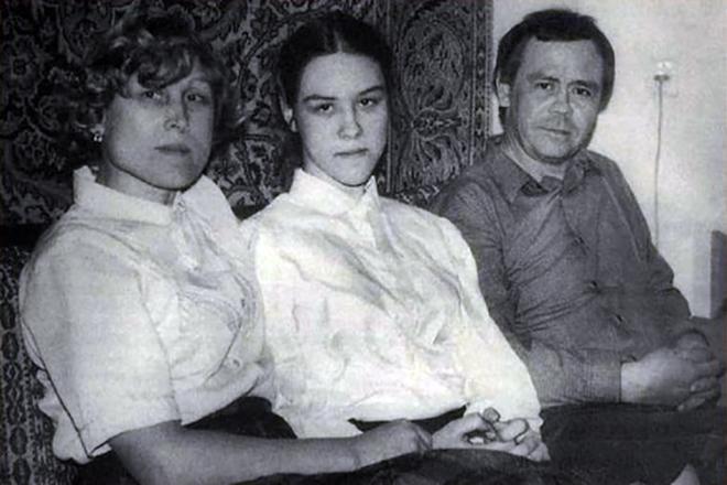 Валентин Распутин с женой и дочерью Марией
