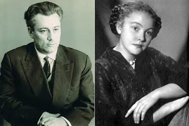 Юрий Нагибин и его первая жена Мария Асмус