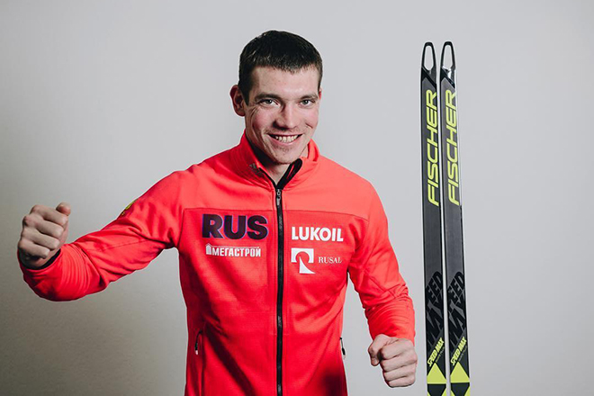 Лыжник Андрей Ларьков