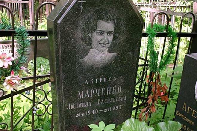 Могила Людмилы Марченко