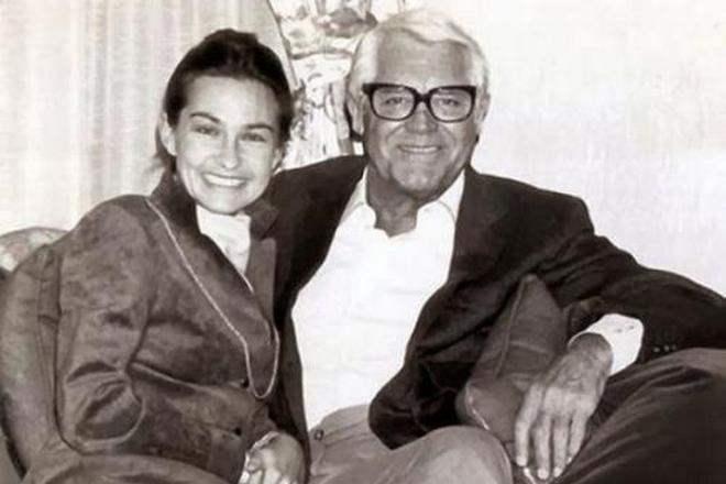 Кэри Грант и его жена Барбара Харрис