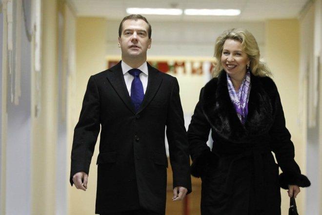 Дмитрий Медведев с женой