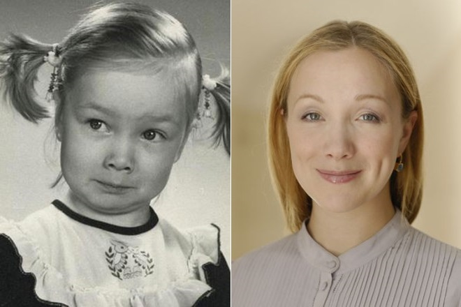 Дарья Мороз в детстве и сейчас