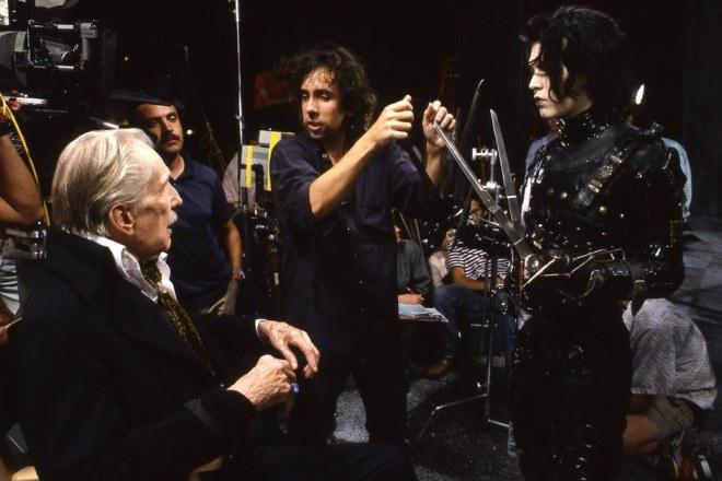 Тим Бертон на съемках фильма «Эдвард Руки-ножницы»
