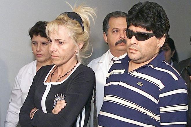 Марадона с женой Клаудией