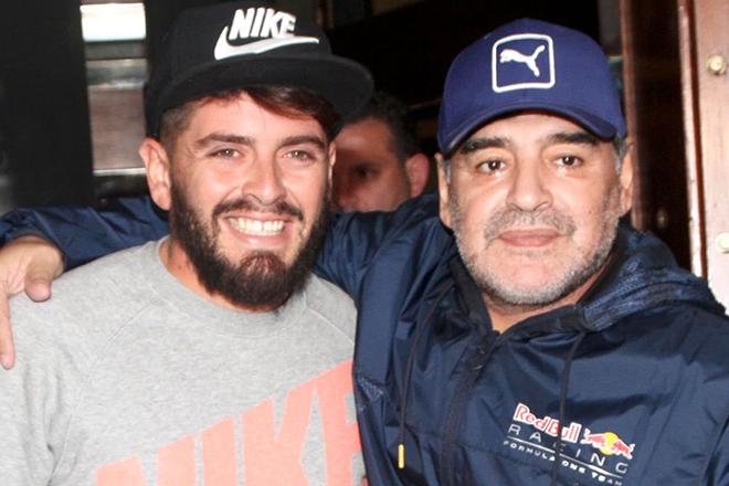 Диего Марадона с внебрачным сыном