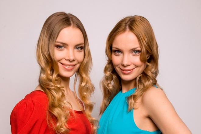 Ольга Арнтгольц с сестрой