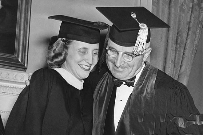 Гарри Трумэн и его дочь Маргарет