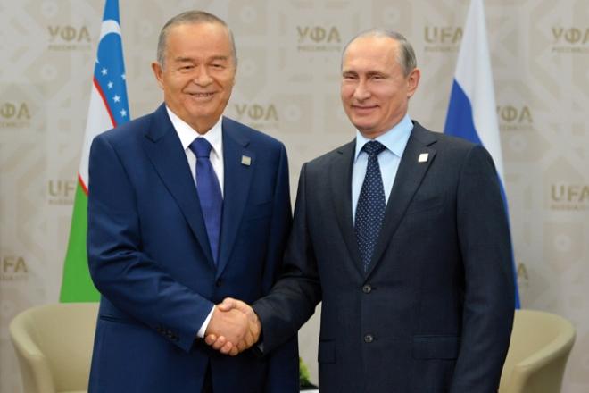 Ислам Каримов и Владимир Путин