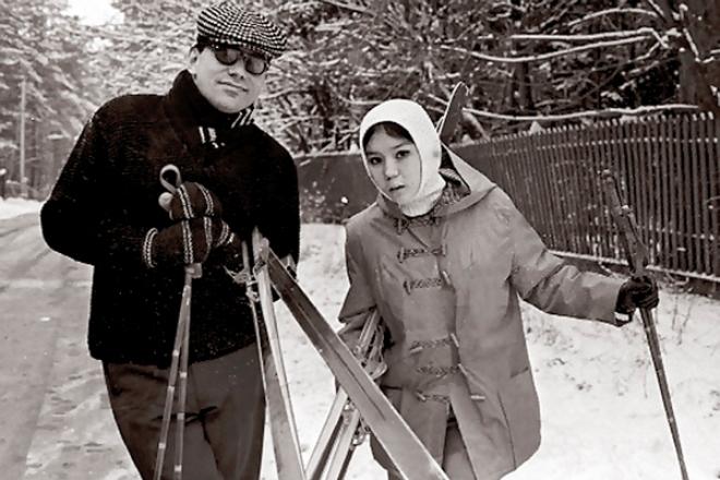 Андрей Кончаловский и Наталья Аринбасарова