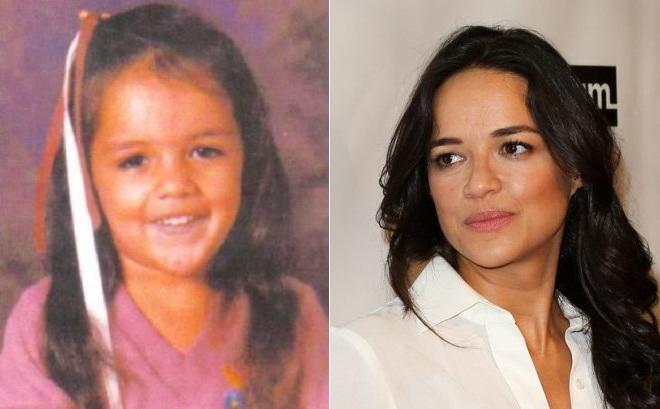 Мишель Родригес в детстве и сейчас