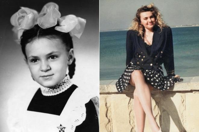 Яна Рудковская в детстве и молодости