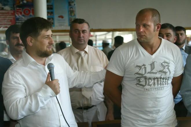 Рамзан Кадыров и Федор Емельяненко