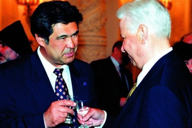 Аман Тулеев и Борис Ельцин